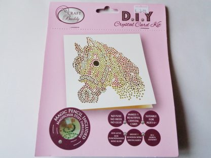 Horse White DIY Crystal Card Kit