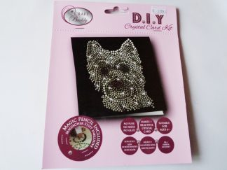 Westie Dog Black DIY Crystal Card Kit
