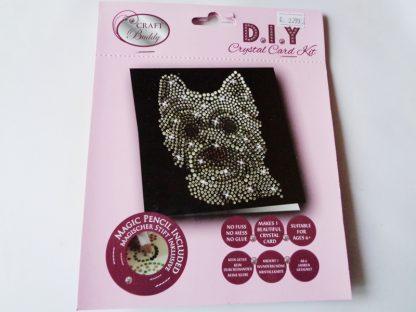 Westie Dog Black DIY Crystal Card Kit