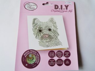 Westie Dog White DIY Crystal Card Kit