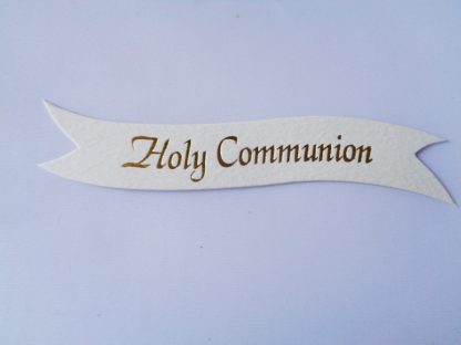 Pack of 5 Cream Holy Communion Word Banner Die Cuts