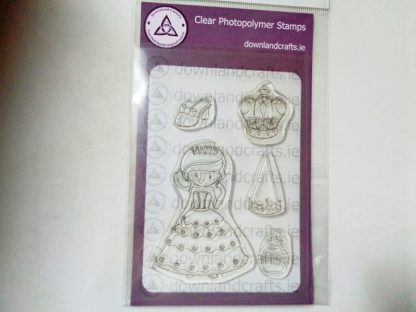 Pretty Princess A6 Clear Photopolymer Stamp Set
