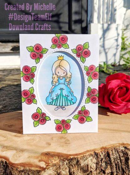 Two Princesses Stamp Set Card Sample