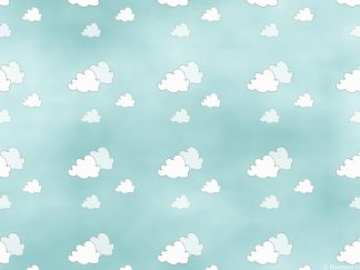 Blue Sky With Clouds Backing Paper