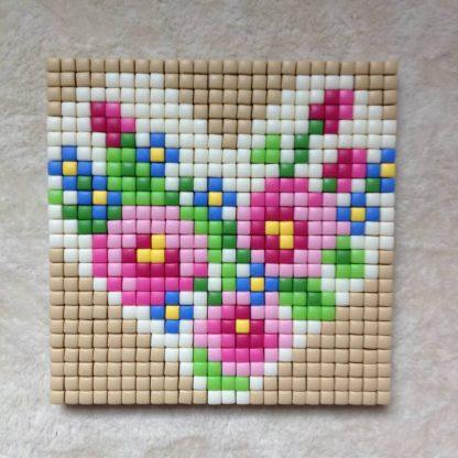 Pink Flowers Pixelhobby Card Kit
