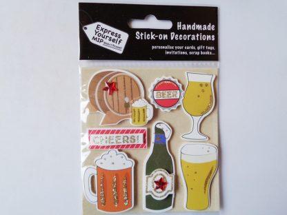 Cheers Beer Self Adhesive Topper Pack