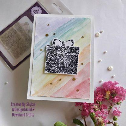 Birthday Gift Stamp Card Sample