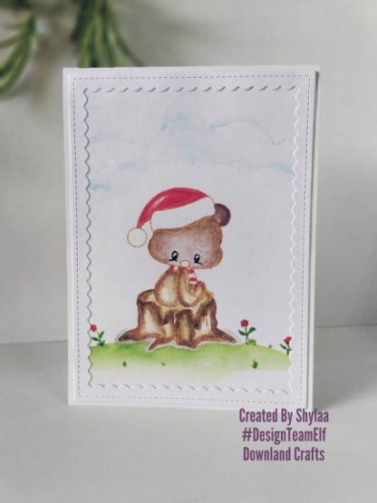 Cute Bear Stamp Set Card Sample