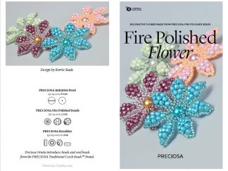 Fire Polished Flower Friday Freebie Beading Pattern