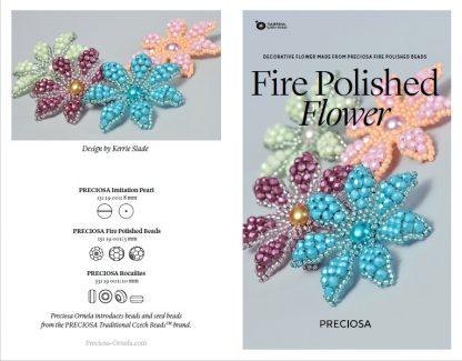 Fire Polished Flower Friday Freebie Beading Pattern