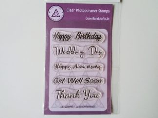 Large Sentiments Stamp Set A6 Clear Photopolymer