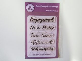 Large Sentiments 2 Stamp Set A6 Clear Photopolymer
