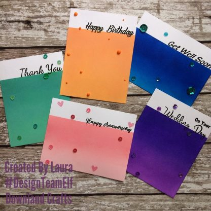 Large Sentiments Stamp Set Card Samples