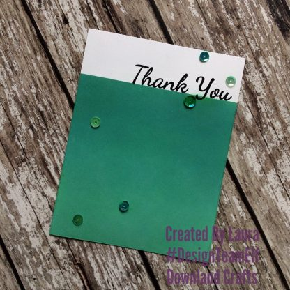 Large Sentiments Stamp Set Thank You Card Sample