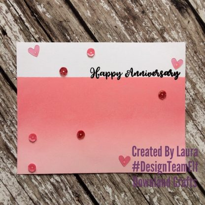 Large Sentiments Stamp Set Happy Anniversary Card Sample