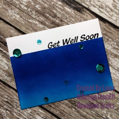 Large Sentiments Stamp Set Get Well Soon Card Sample