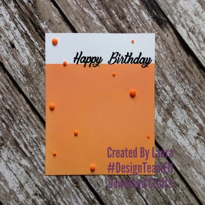 Large Sentiments Stamp Set Happy Birthday Card Sample