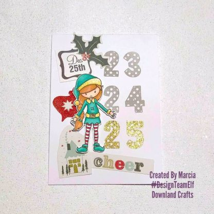 Dotty Numbers & Elf Ollie Stamps Card Sample