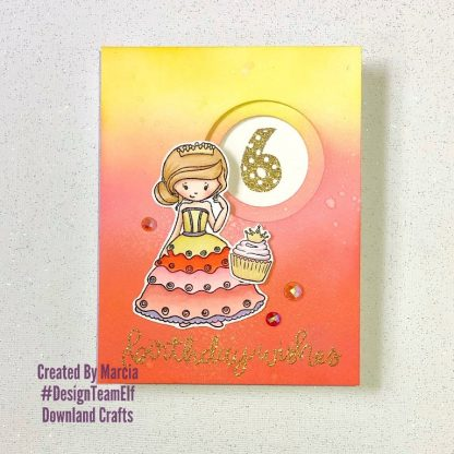 Dotty Numbers & Pretty Princess Stamp Sets Card Sample