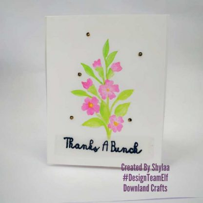 Thanks A Bunch Stamp Set Card Sample