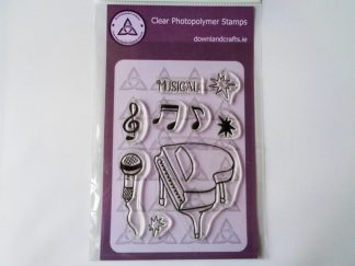 Musical A6 Clear Photopolymer Stamp Set