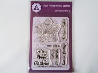 Christmas Poinsettia A6 Clear Photopolymer Stamp Set