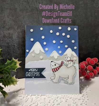 Polar Christmas Stamp Set Card Sample