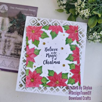 Christmas Poinsettia Stamp Set Card Sample
