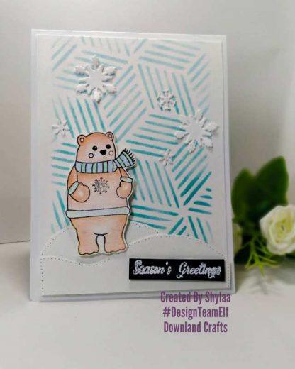 Polar Bear Stamp Card Sample