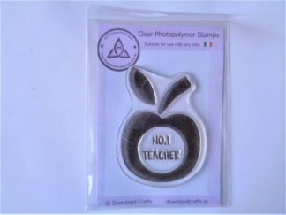Teacher Apple Stamp - A7 Clear Photopolymer