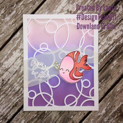 Angel Fish Stamp Set Card Sample