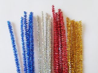 Chenille Tinsel Sticks Mixed (10)