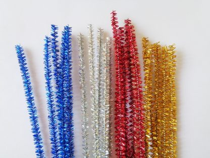 Chenille Tinsel Sticks Mixed (10)