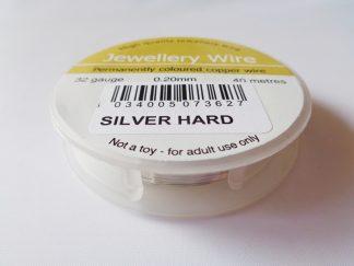 0.2mm (32 gauge) Silver Plated Hard Jewellery Wire