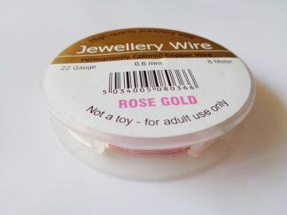 0.6mm Wire Rose Gold (22 gauge)