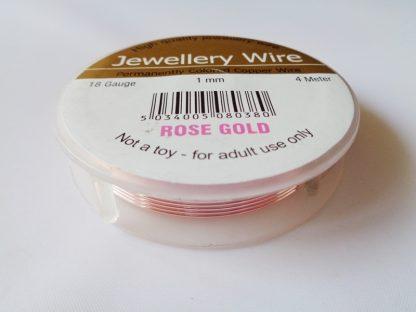1mm Wire Rose Gold (18 gauge)