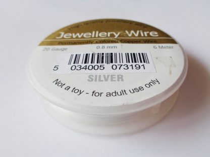 0.8mm (20 gauge) Silver Plated Jewellery Wire