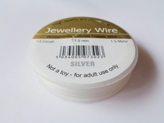 1.5mm (14 gauge) Silver Plated Jewellery Wire