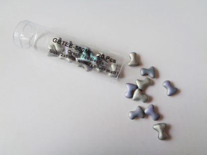 Tee Beads - Silver Matt