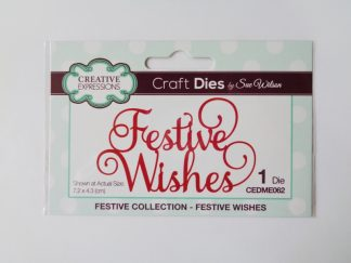 Sue Wilson - Festive Wishes Die