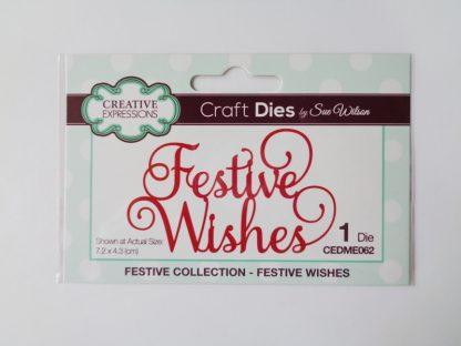 Sue Wilson - Festive Wishes Die