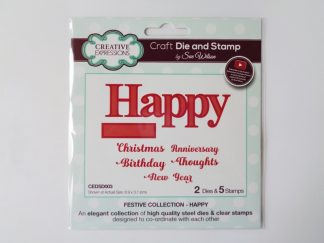 Sue Wilson - Happy Die & Stamp Set
