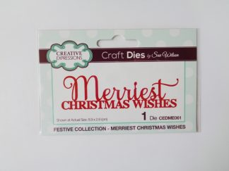 Sue Wilson - Merriest Christmas Wishes Die