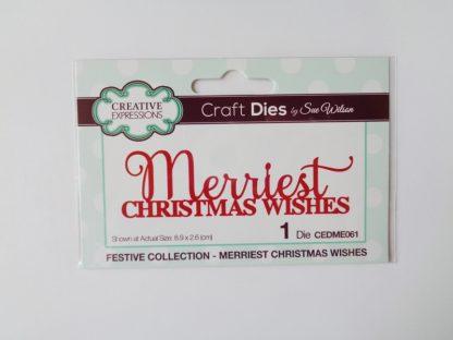 Sue Wilson - Merriest Christmas Wishes Die