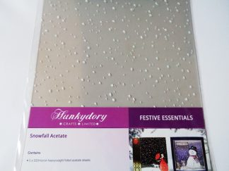 Luxury Foiled Snowfall Acetate