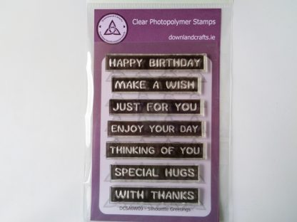 Silhouette Greetings Stamp Set A6 Clear Photopolymer