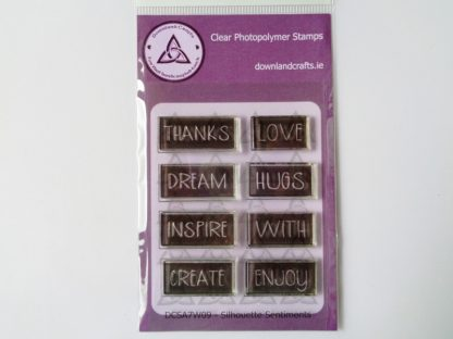 Silhouette Sentiments Stamp Set A7 Clear Photopolymer