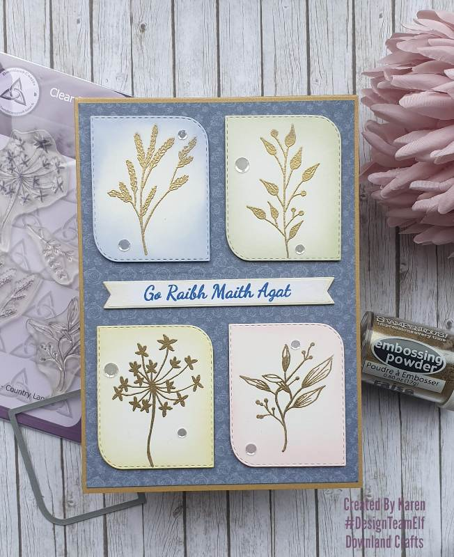 Country Lane Stamp Set Card Sample