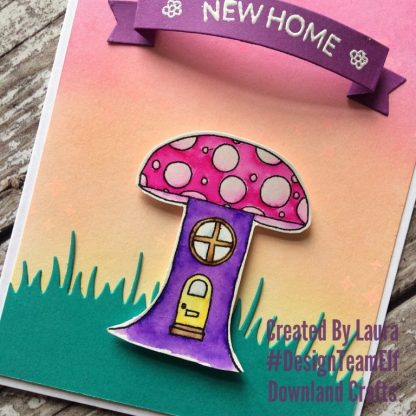 Toadstool House Stamp Set Card Sample