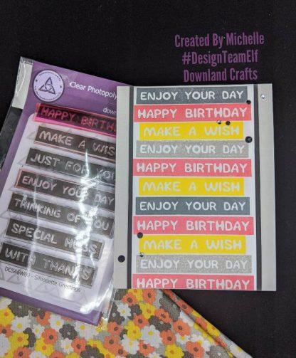 Silhouette Greetings Stamp Set Card Sample